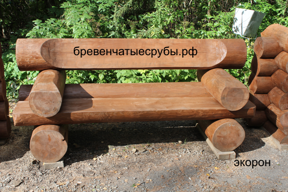Скамейки из дерева своими руками из бревна