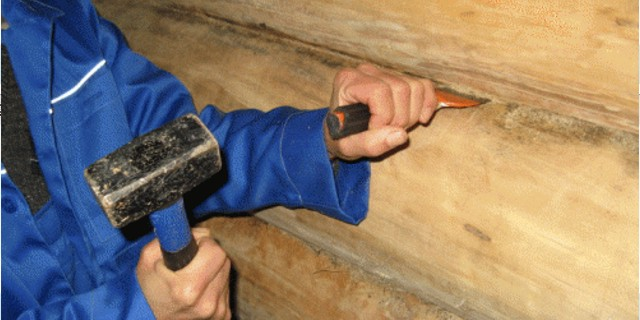 Конопатка бревенчатого сруба -фото1