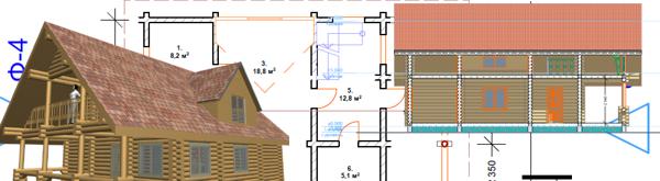 Проектирование бревенчатого дома -фото
