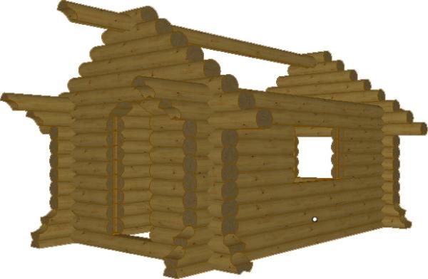 Сруб детского домика - фото