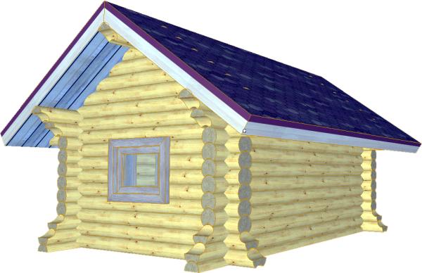 Бревенчатый детский домик - фото