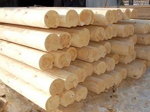 Оцилиндрованное бревно для деревянного дома