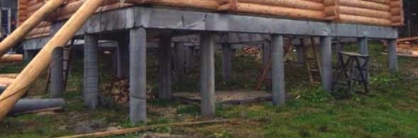 Столбчатый фундамент для дома, бани из бревна - фото2