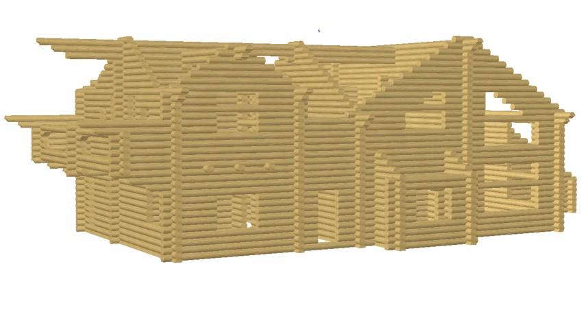 3д модель дома - фото