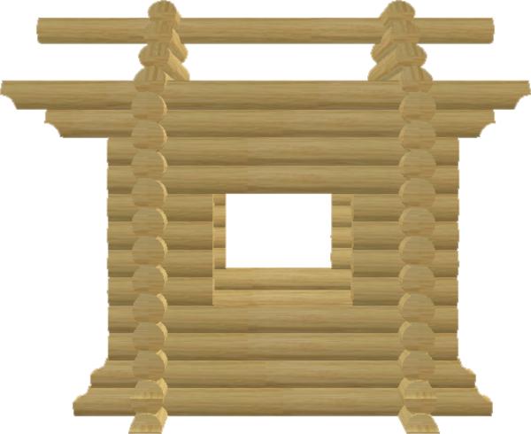 Детский домик из оцилиндрованного бревна - фото
