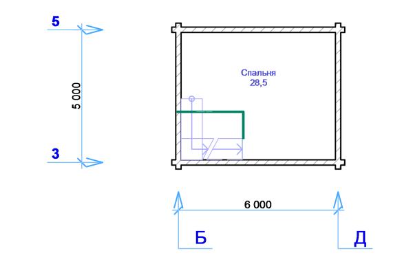 Дом-баня - план второго этажа - фото