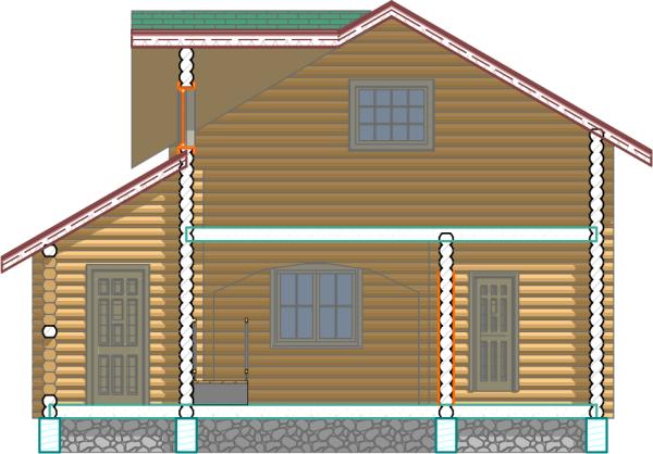 Дом-баня - Разрез 2 - фото
