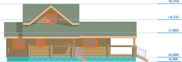 Дом-баня - Фасад 1 - фото