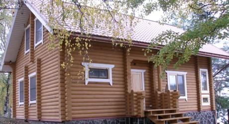 Бревенчатый дом -фото1