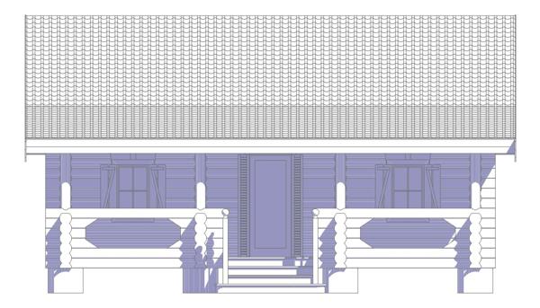 Проект бревенчатого дома кивач -фото