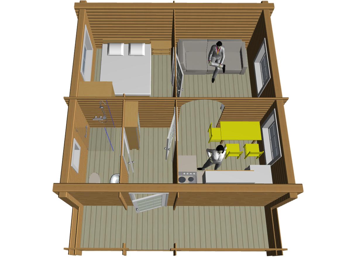 Дом из двойного сухого бруса - фото