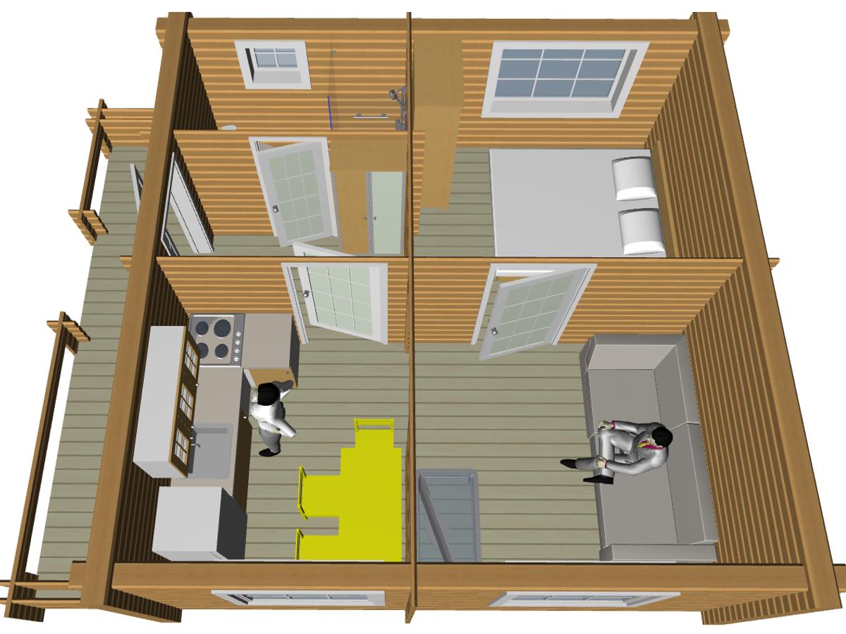 Бюджетный проект дома - фото