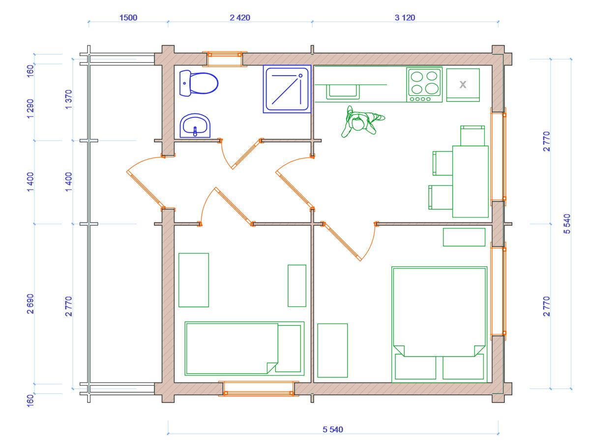 Схема дома - фото 2