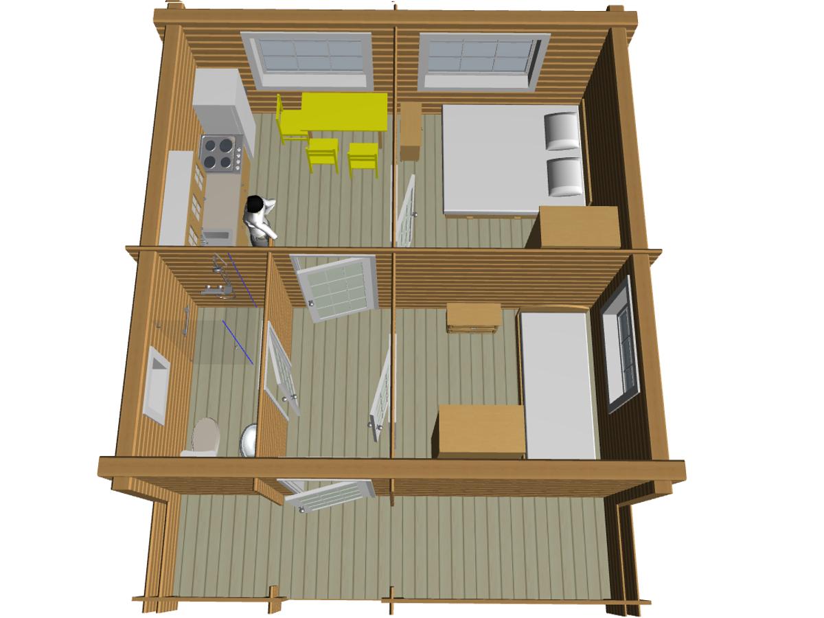 Бюджетный проект дома из двойного бруса - фото 7