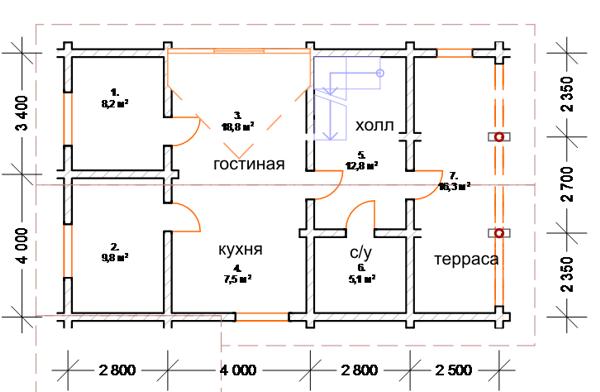 План первого этажа - фото