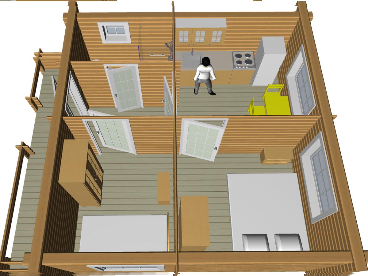 Недорогой дома из двойного бруса - фото 9