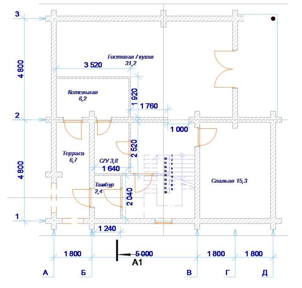 План 1 этажа - фото