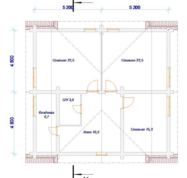 План 2 этажа - фото