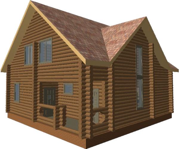 Перспективный вид дома «Валдай» - фото 1