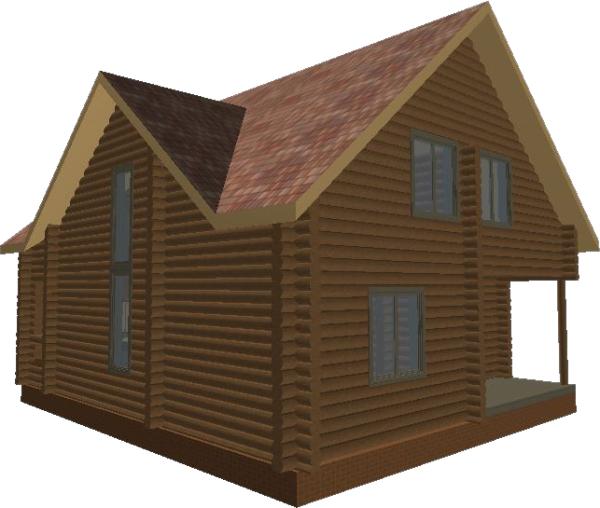 Перспективный вид дома «Валдай» - фото 2