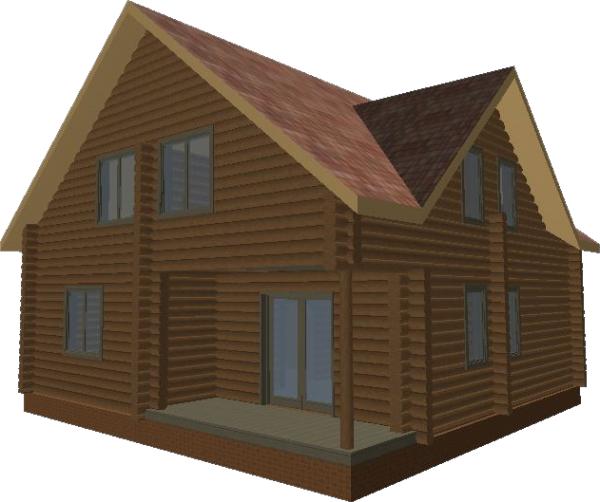 Перспективный вид дома «Валдай» - фото 3