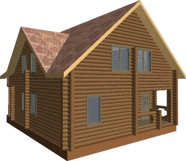 Перспективный вид дома «Валдай» - фото 4