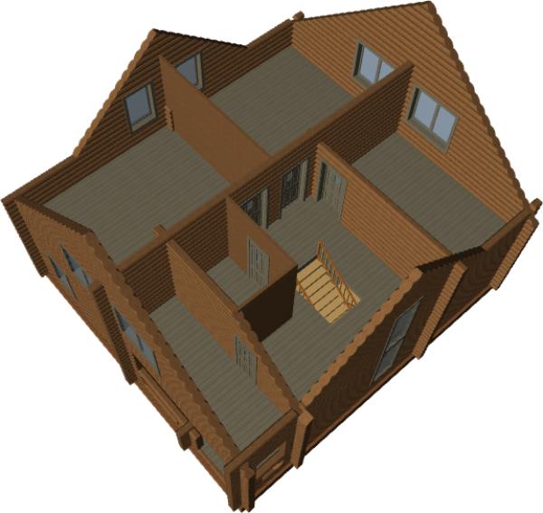 3д вид дома - фото 3