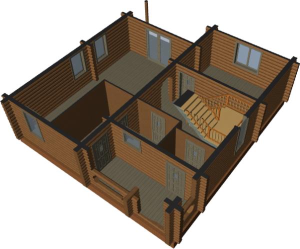 3д вид дома - фото 1