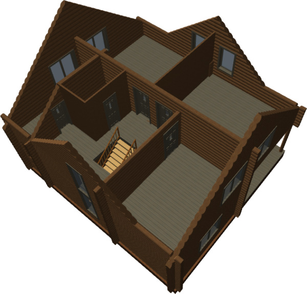 3д вид дома - фото 2