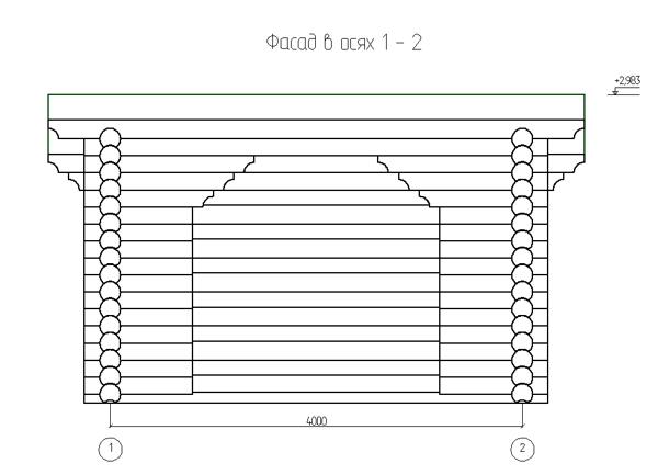 Фасад дровяника 1 - фото