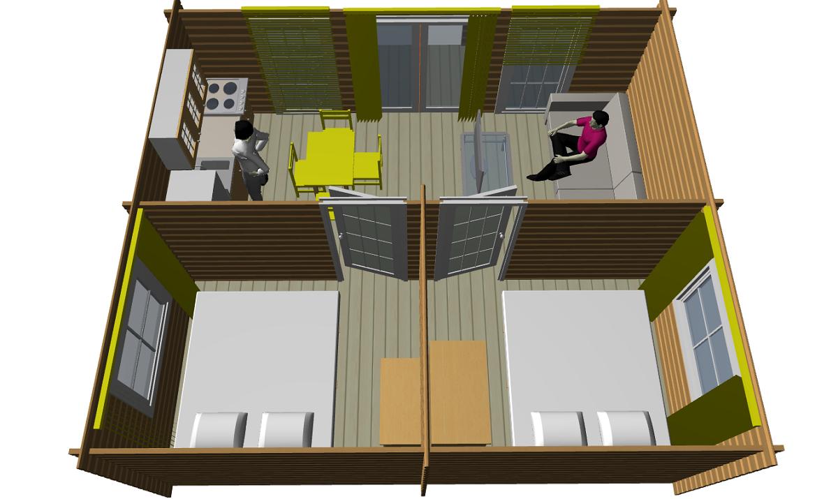 Дачный сезонный домик из профилированной доски - фото