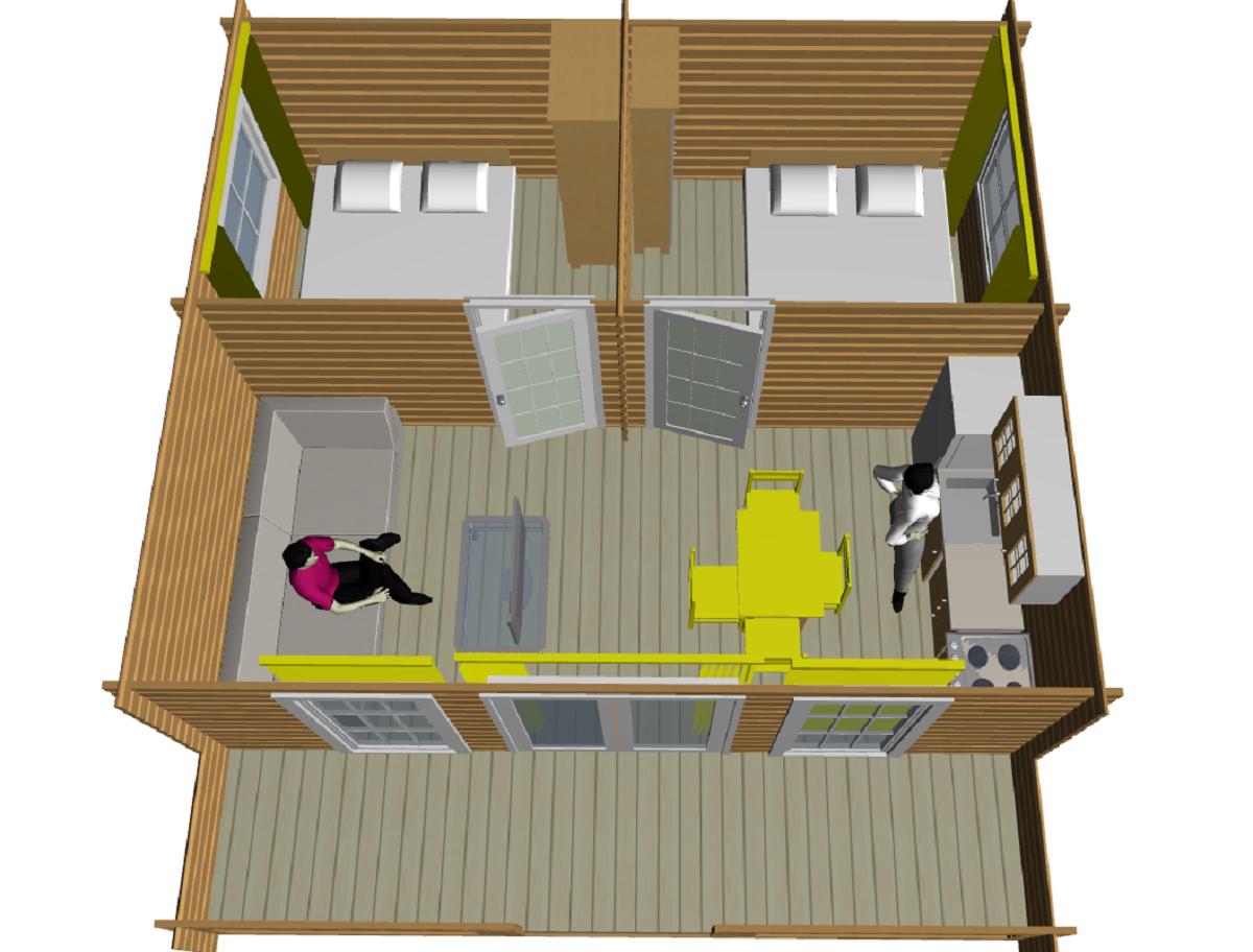 Садовый домик из минибруса - фото