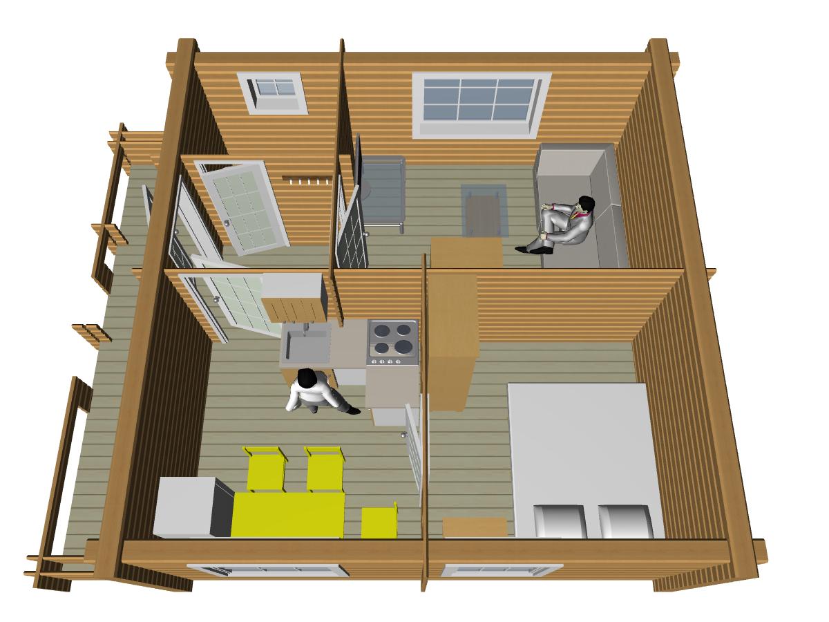 Дом из двойного бруса - фото 1