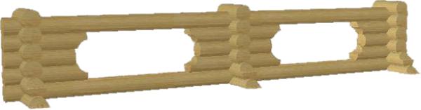 Бревенчатый забор из оцилиндрованного бревна - фото