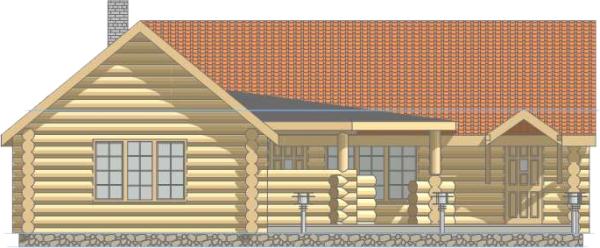 Баня - фасад западный - фото