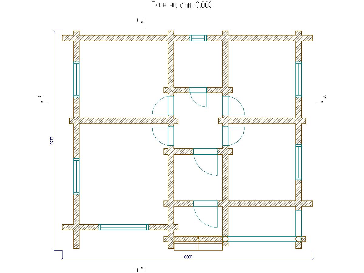 бревенчатый дом