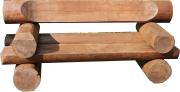 Используем обрезки от бревенчатого дома - скамейка из бревна своими руками!