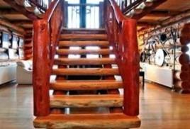 Лестницы в бревенчатом доме