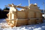 Строите ли вы бревенчатые сооружения зимой?
