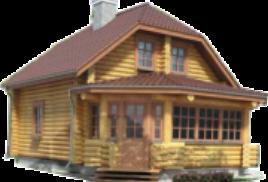 Веранда бревенчатого дома
